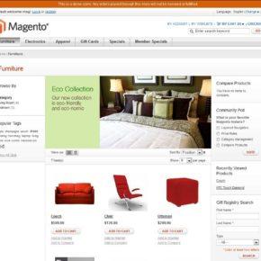 cms magento - главная страница