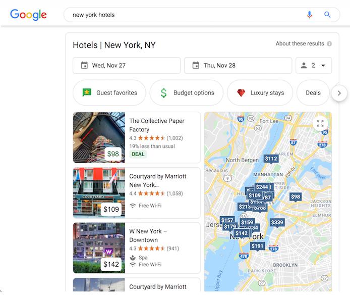 гугл маркетинг - hotel