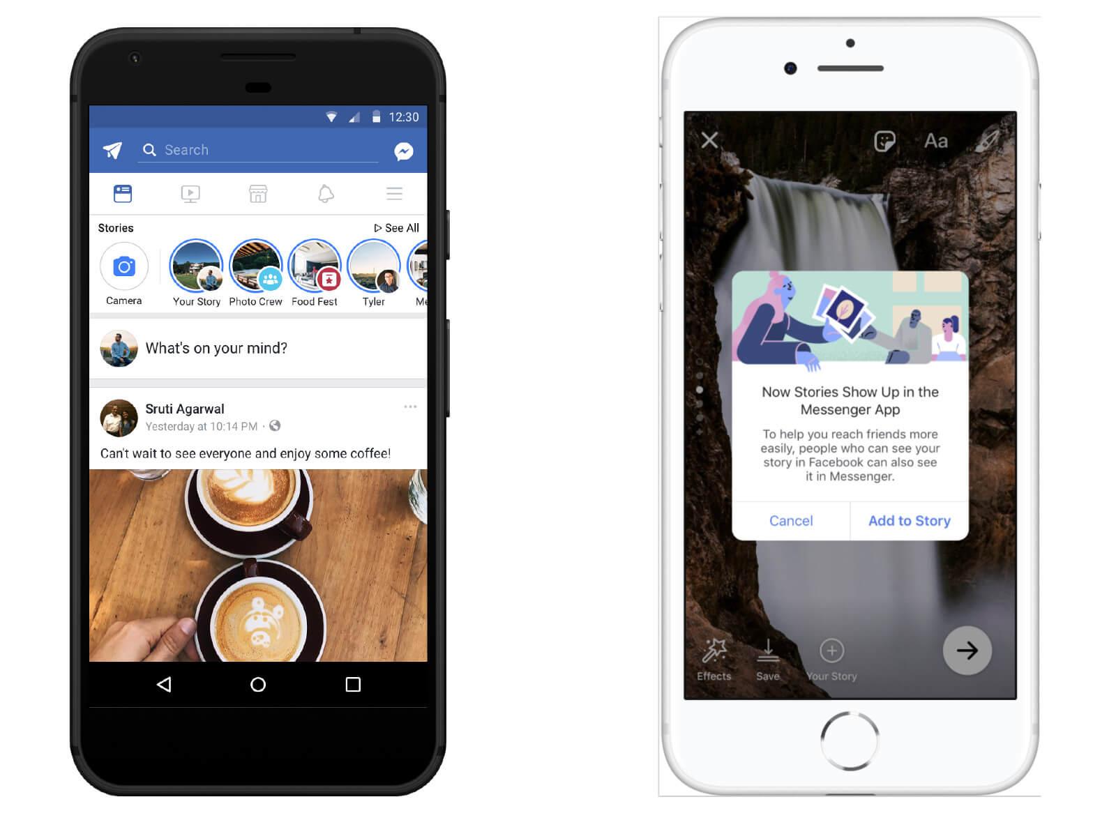 Плейсмент в Фейсбук - истории в messenger