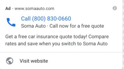 Объявление только с номером телефона